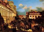 Ulica Miodowa w 1777 r. Na obrazie Canaletta widać po lewej pałac Teppera (drugi budynek)