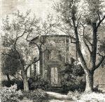 Budynek wogrodzie Słuszków narycinie (1869) oraz nazdjęciach (okres międzywojenny)