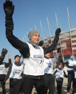Minister Mucha chce na stadionie organizować również niekomercyjne imprezy. Na zdjęciu podczas biegu wokół Narodowego w lutym tego roku