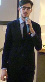Grzegorz Piatek podczas otwarcia nowej siedziby Centrum Architektury