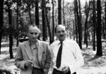 Gen. Ritter -Jastrzębski (z lewej): pierwowzór Hansa Klossa w 1956 r.  Fot. ARTUR STAREWICZ