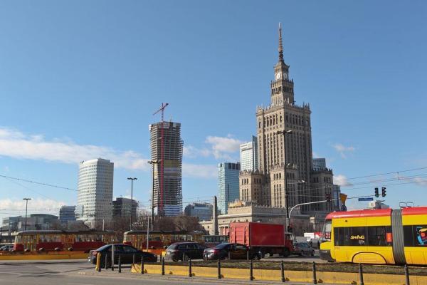 Tramwaje w centrum Warszawy