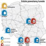 Do najdroższych należy budowa tunelu w ciągu południowej obwodnicy Warszawy