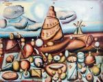 """Obraz Jana Michalaka z cyklu """"Wieża Babel"""""""