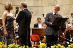 "Marie Arnet, dyrygent Martin Haselböck i John Malkovich we fragmentach tragedii ""Egmont"" Goethego z muzyką Beethovena."