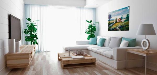 Wynajmujący apartament na krótko może liczyć na pełne umeblowanie i wyposażenie.