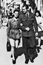 Z narzeczoną Alicją Arens, ok. 1946 r.