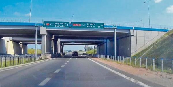 Czynna już obwodnica Augustowa jest fragmentem przyszłej Via Balica.