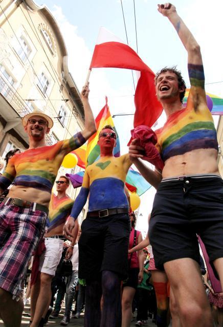 """Impreza ma zwrócić uwagę na problemy osób homoseksualnych w naszym kraju. Na zdjęciu Marsz Równości """"Wszyscy jesteśmy homo""""."""