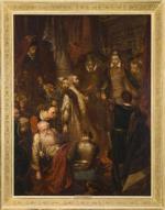 """Obraz Jana Matejki """"Zabicie Wapowskiego w czasie koronacji Henryka Walezego"""" osiągnął rekordową  w tym roku kwotę  – 3,683 mln zł."""
