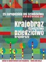 Plakat tegorocznej, jubileuszowej edycji Europejskich Dni Dziedzictwa