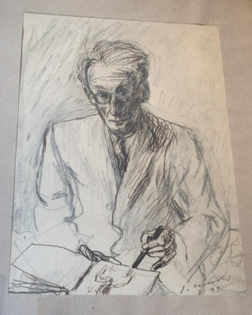 """Józef Czapski, """"Autoportret"""", 1949, kolekcja prywatna, Francja."""