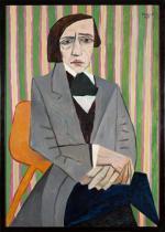 """Wojciech Fangor, """"Chopin"""", olej na płótnie, 1949."""
