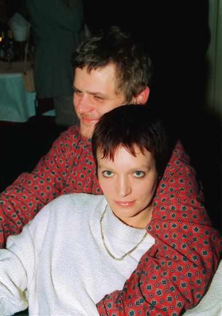 Kazik Staszewski i jego żona Ania, do której jeździł do Torunia przez Kutno.