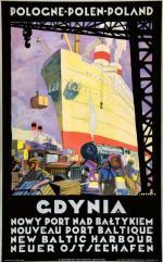 """Plakat """"Gdynia"""" jest symbolem sukcesów odrodzonej Polski"""