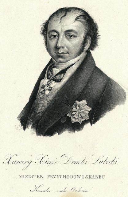 Franciszek Ksawery Drucki-Lubecki był ministrem skarbu Królestwa Polskiego w latach 1821–1830.