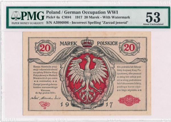 Banknot z 1916 roku wyceniono na 1 tys. zł Antykwariat Numizmatyczny