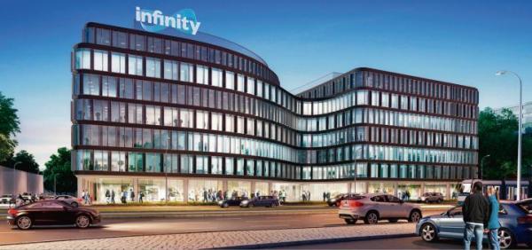 Biurowiec Infinity w ścisłym centrum Wrocławia oferuje lokale handlowo-usługowe na powierzchni 2,5 tys. mkw.