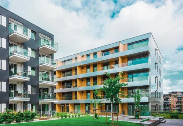 Polska firma Unihouse buduje bloki z drewna m.in. w Norwegii.