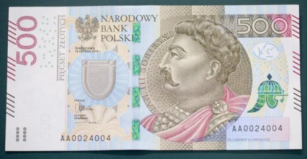 Rośnie zainteresowanie banknotem w nominale 500 zł