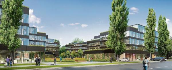 ≥Mokotowski kompleks dwóch biurowców Neopark – budowa dobiega końca