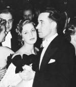 ≥Bal filmu polskiego w Warszawie. Tamara Wiszniewska z mężem Władysławem Mikoszem (styczeń 1939 r.)
