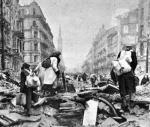 ≥Ludność cywilna opuszcza stolicę po upadku powstania warszawskiego
