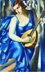 Grafika Tamary Łempickiej. Obrazy malarki osiągają rekordowe ceny na międzynarodowych aukcjach sztuki.