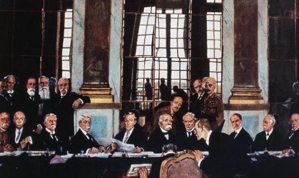 ≥ Mimo że oficjalnie Wielka Wojna skończyła się 11 listopada 1918 r., to traktat wersalski został podpisany dopiero 28 czerwca 1919 r., po ponad półrocznych pertraktacjach