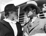 """≥Maria Bogda jako Janka Zatorska i Adam Brodzisz w roli Adama Halnego w """"Rapsodii Bałtyku"""" (1935 r.)"""
