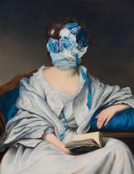 """≥Ewa Juszkiewicz """"Untitled. After Alexander Roslin"""", olej  na płótnie, 130x10, 2018, dzięki uprzejmości artystki i galerii lokal_30"""