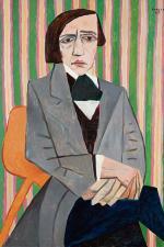 """Obrazy Fangora sprzedano  w sumie  za najwyższą kwotę w ciągu 30 lat.  Tu obraz """"Chopin""""  z 1949 roku"""