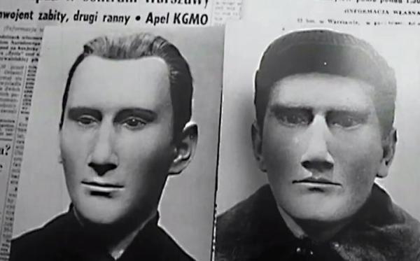 Portrety sprawców napadu stulecia opublikowane w prasie w 1964 r. Czy to Antoni S. (z lewej) i Adam L.?