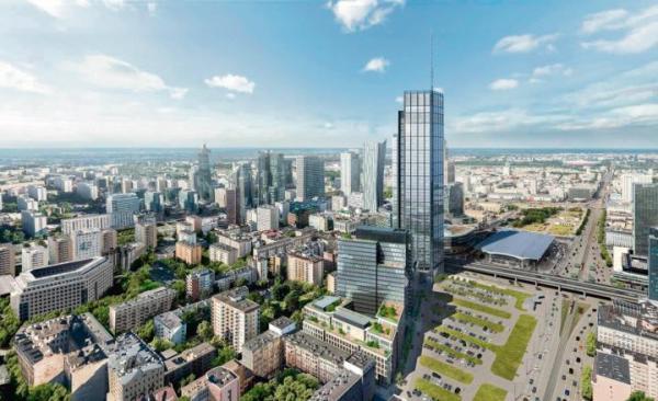 W centrum Warszawy wkrótce górować ma ponadtrzystumetrowe Varso Tower