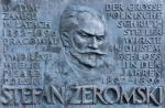 """Tablica poświęcona Stefanowi Żeromskiemu, który napisał w Rapperswilu m.in. """"Siłaczkę"""""""